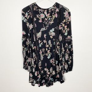 FREE PEOPLE Just The Two Of Us Tunic XS Floral